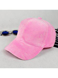 Lovers Adjustable Velvet Baseball Hat - Pink