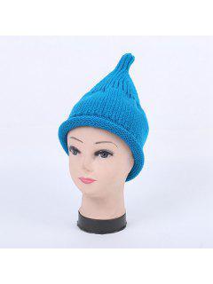 Winter Teat Shape Knit Hat - Lake Blue