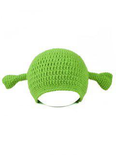 Creative Shrek Ear Knit Hat - Pistachio