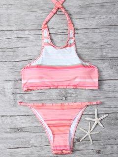 De Cuello Alto Color Del Gradiente Del Bikini - Multicolor Xl
