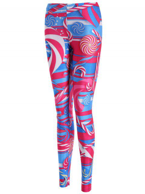 hot Skinny Lollipop Pattern Leggings - COLORMIX M Mobile