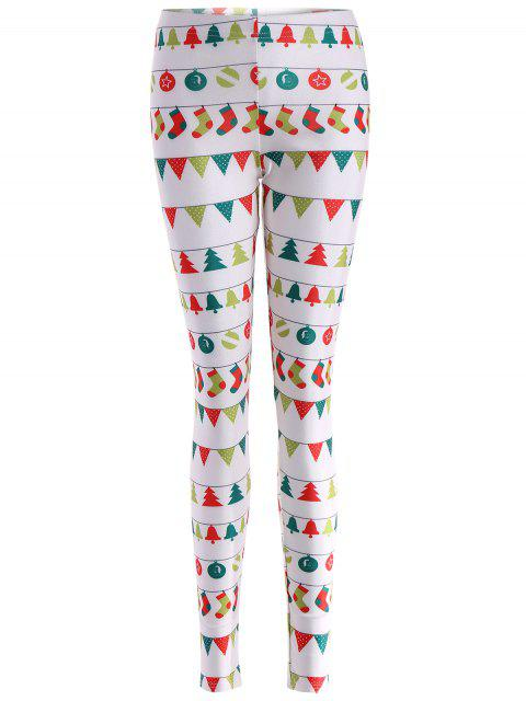 shops Christmas Holiday Skinny Leggings - WHITE XL Mobile