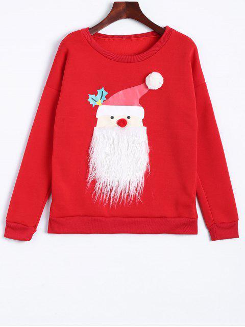 chic Christmas Fleece Sweatshirt - RED XL Mobile