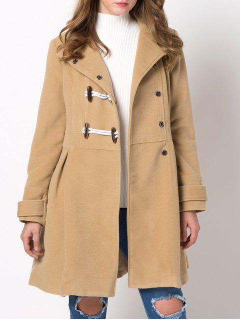 new Hooded Skirted Duffle Coat - CAMEL 2XL Mobile