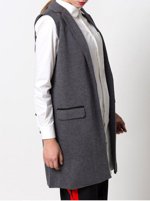 new One-Button Waistcoat - GRAY L Mobile