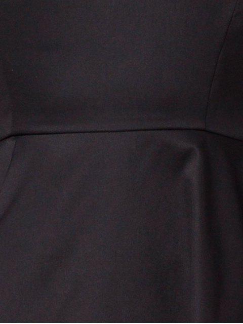 women's Asymmetric Blouse - BLACK XS Mobile