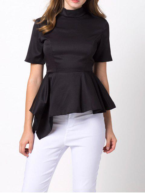 sale Asymmetric Blouse - BLACK 2XL Mobile