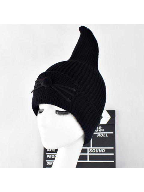 Sombrero Lana Casual Bigote Gato Aleta Tiburón - Negro  Mobile