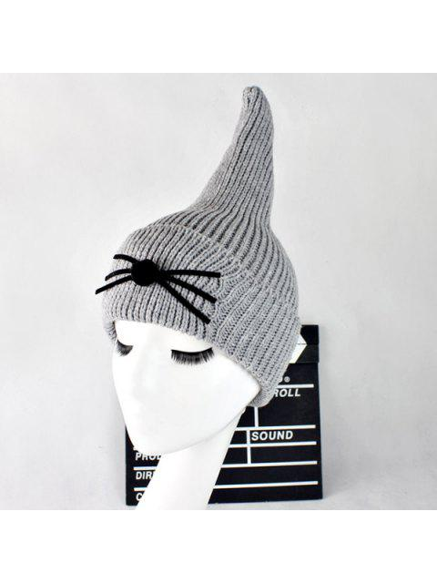 Sombrero Lana Casual Bigote Gato Aleta Tiburón - Gris Claro  Mobile