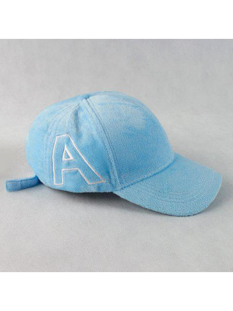 shops Warm Letter A Embroidery Plush Baseball Hat - CLOUDY  Mobile