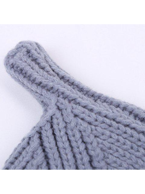 best Winter Teat Shape Knit Hat - LAKE BLUE  Mobile