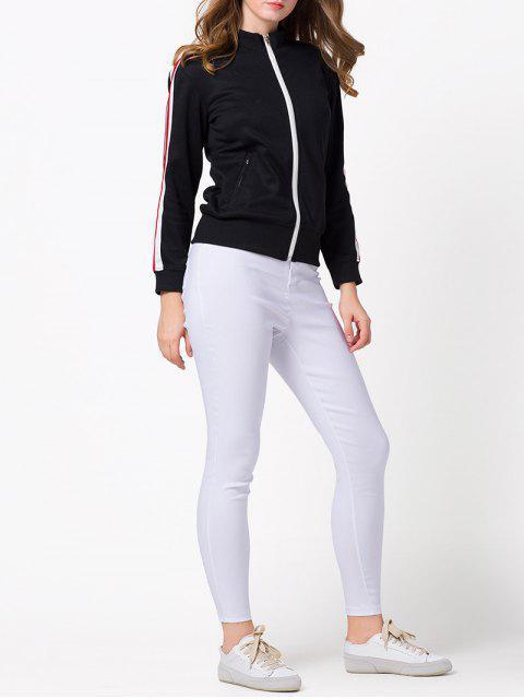 online Sports Zip-Up Jacket - BLACK XS Mobile