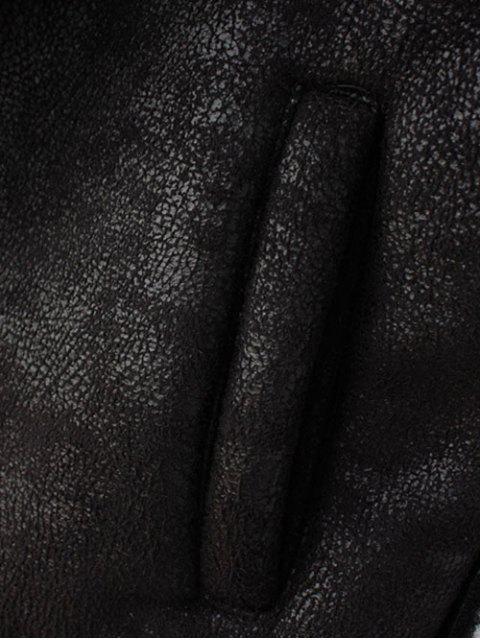 Détachables col en fourrure Suede Waistcost - Noir L Mobile