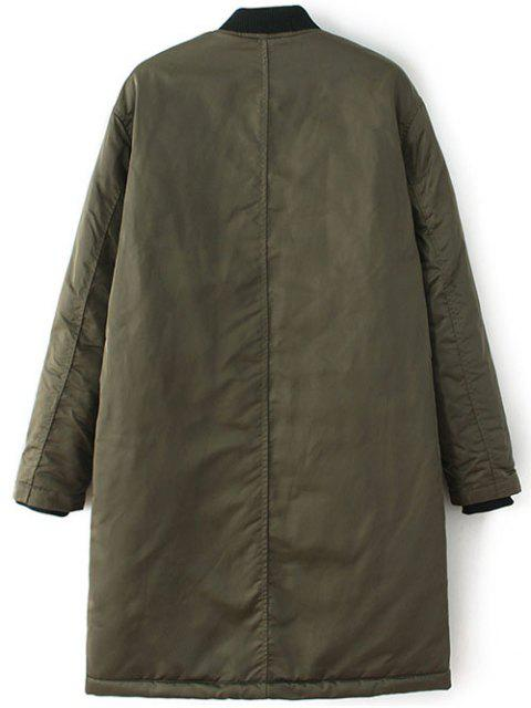 new Stand Neck Padded Bomber Coat - ARMY GREEN S Mobile