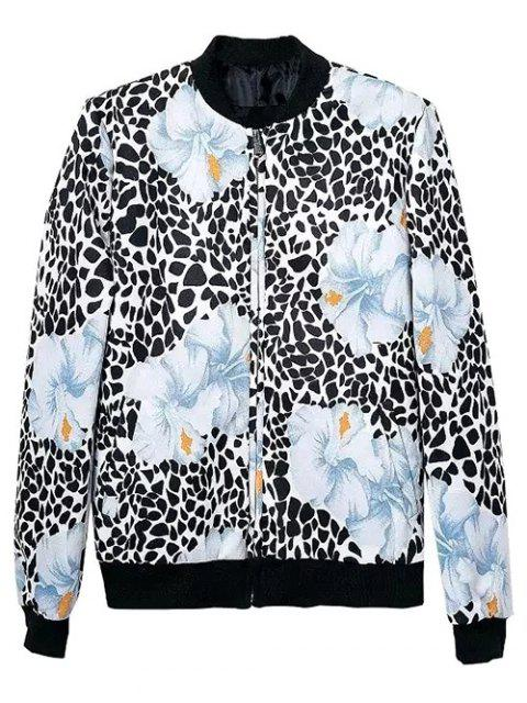 new Flower Patterned Bomber Jacket - COLORMIX L Mobile