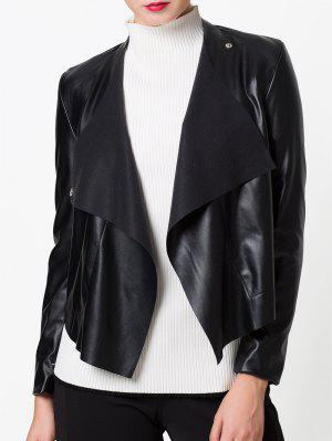 Snap Button Biker Jacket - Black L