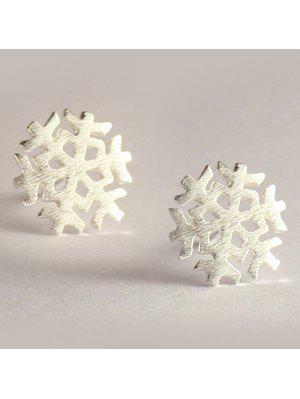 Christmas Snowflake Stud Earrings - Silver