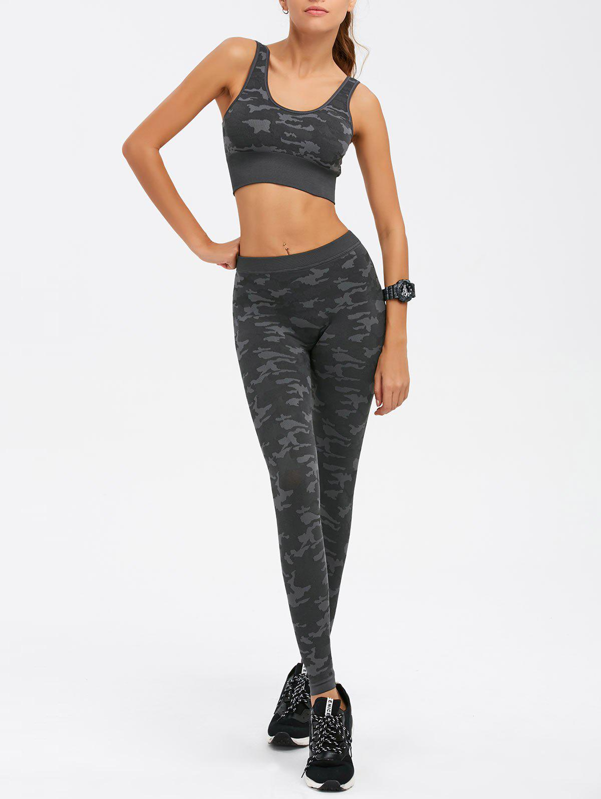 Camouflage Bra and Yoga Leggings Sweat Suit 201918103