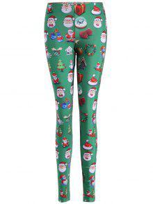 سانتا كلوز نحيل طماق - أخضر S
