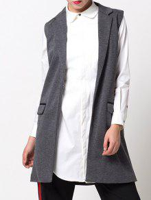 One-Button Waistcoat - Gray S