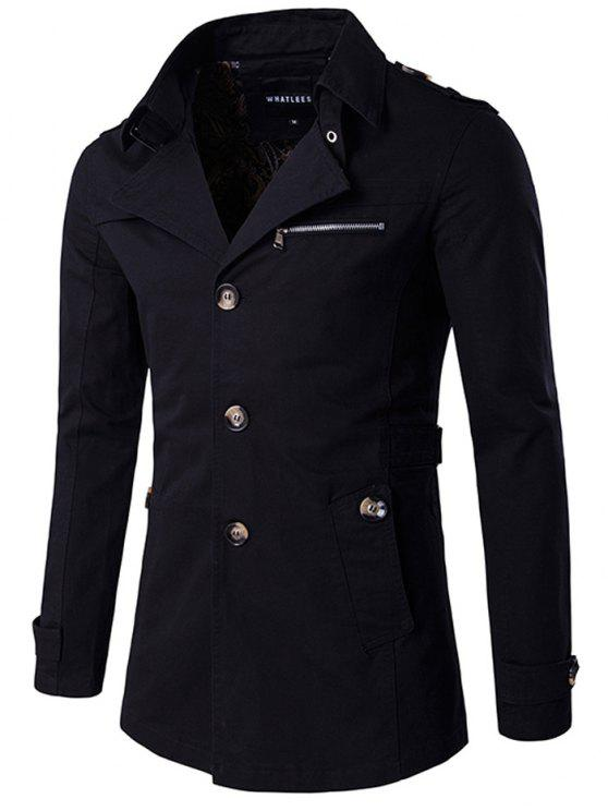Cappotto Monopetto - Nero XL