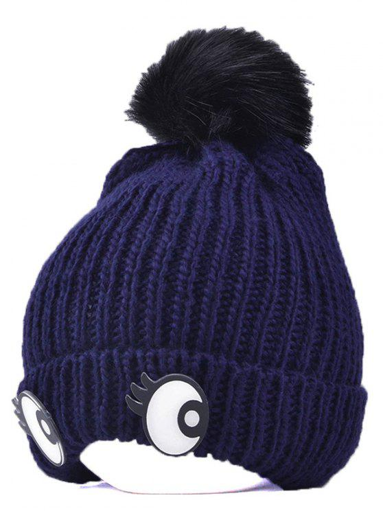 buy Knitting Patterns Eyes Pom Hat - CADETBLUE