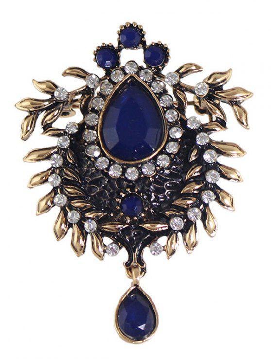 hot Enamel Faux Gem Scorpion Brooch - BLUE
