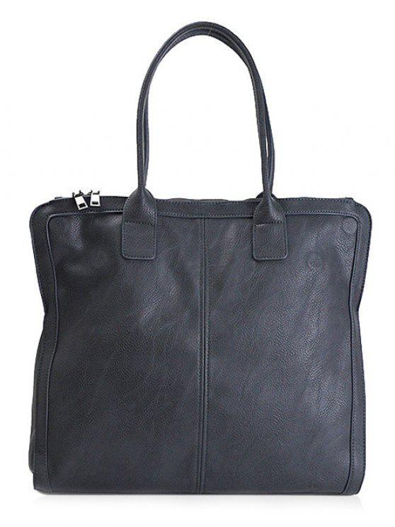 Retro PU-Leder-Handtasche - Blau