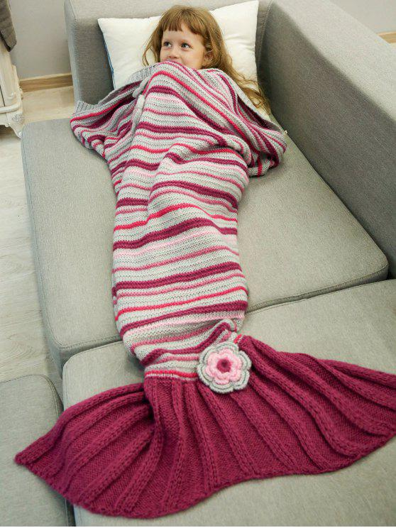 Étoffes Sofa Mermaid Tail Blanket - Rouge