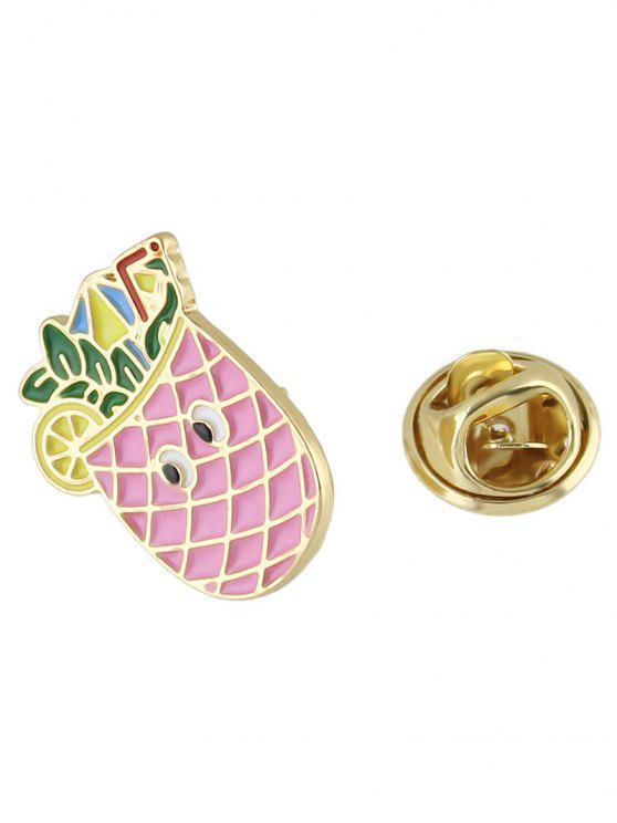 Broche ornementale d'ananas - ROSE PÂLE
