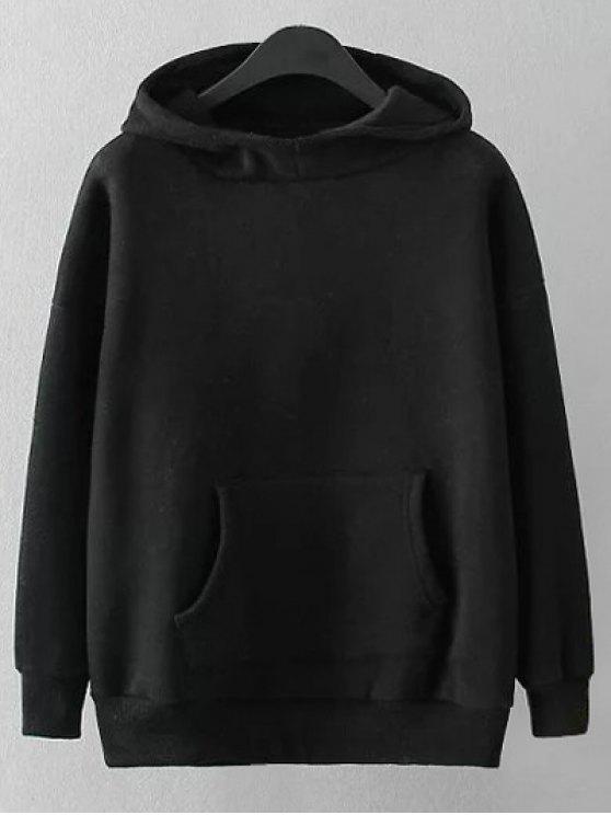 هودي مريح طباعة كرتون - أسود 3XL