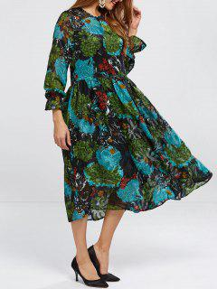 Printed Smock Dress With Cami Top - S