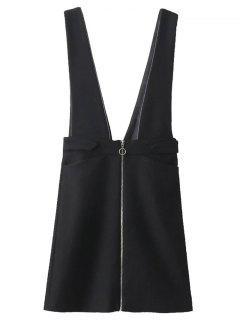Jupe Zippée à Hauteur De Taille Avec Jarretelles - Noir M