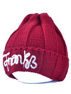 Knitting Patterns Letter Hat - Burgundy