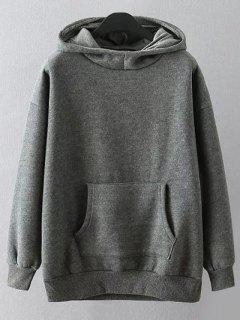 Casual Cartoon Print Hoodie - Gray Xl