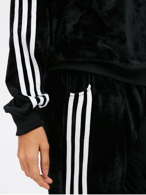 outfit Velvet Hoodie and Sweatpants - BLACK L Mobile