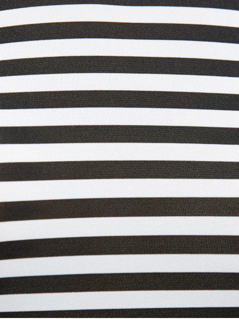 womens V Back Belted Striped Maxi Dress - STRIPE M Mobile