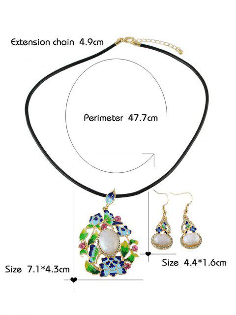 fashion Faux Pearl Ombre Enamel Jewelry Set -   Mobile