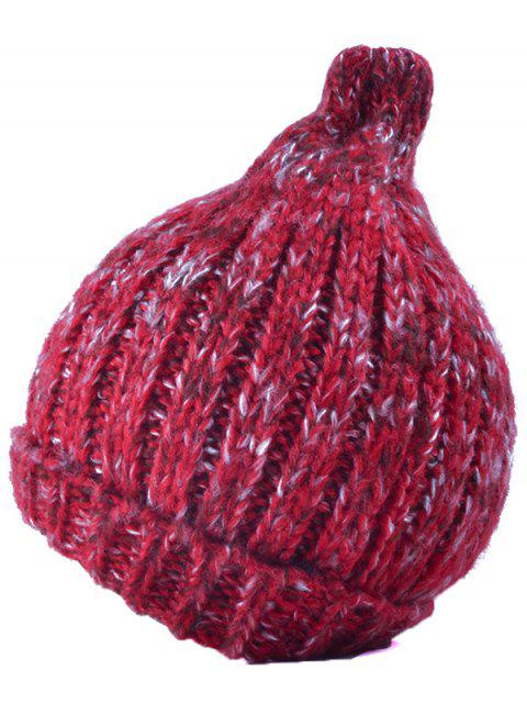 latest Knitting Patterns Chunky Crochet Tapered Hat - RED  Mobile
