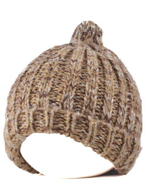 chic Knitting Patterns Chunky Crochet Tapered Hat - KHAKI  Mobile