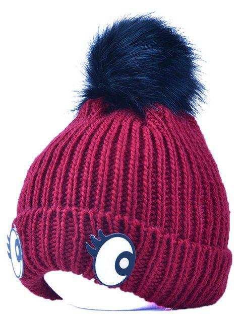 women Knitting Patterns Eyes Pom Hat -   Mobile