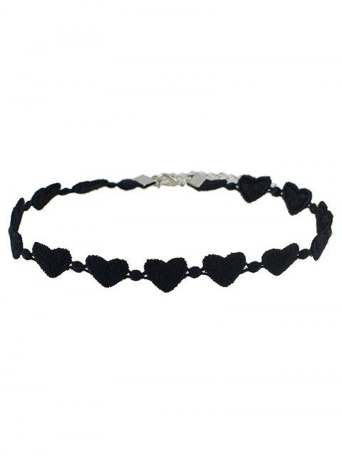 chic Lace Peach Heart Choker -   Mobile