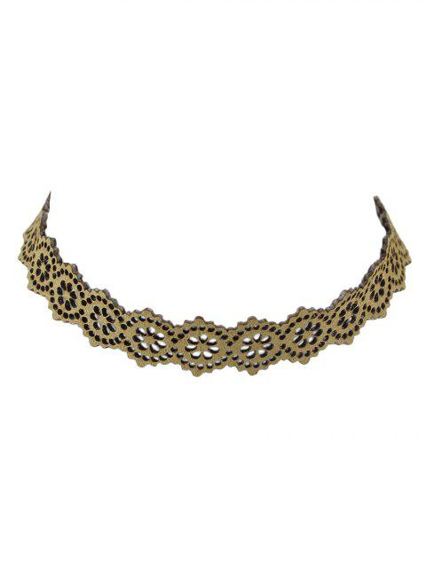 buy Punk Floral Openwork Lace Choker -   Mobile