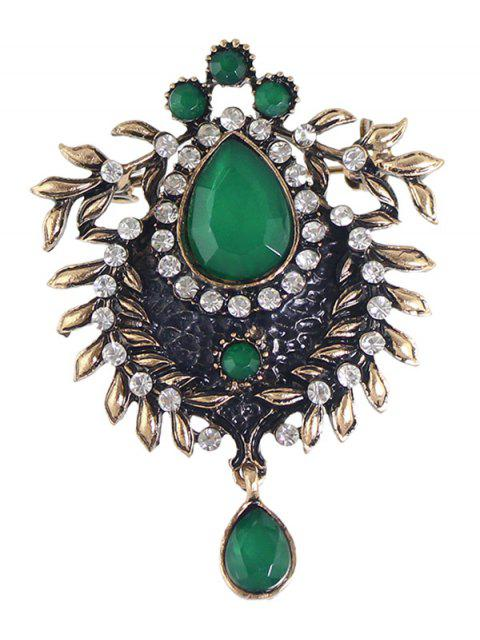 outfit Enamel Faux Gem Scorpion Brooch - GREEN  Mobile