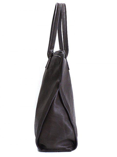 hot Retro PU Leather Handbag - DEEP BROWN  Mobile
