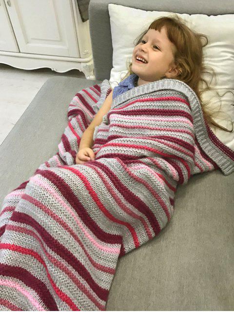 shops Knitted Sofa Mermaid Tail Blanket -   Mobile