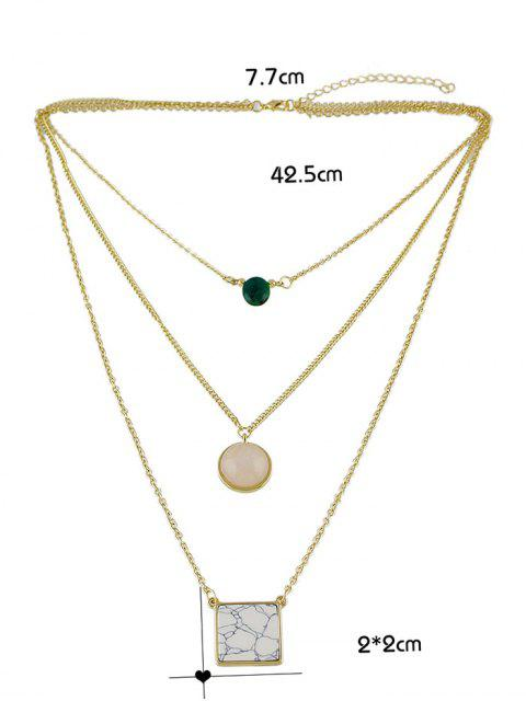 outfit Layered Marble Necklace - GOLDEN  Mobile