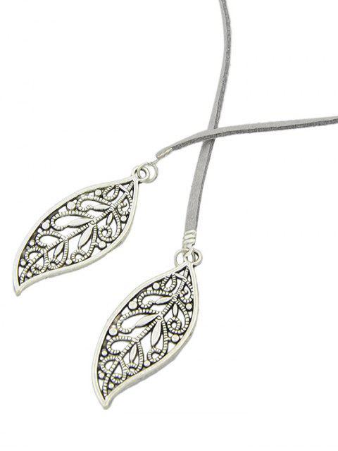 shops Layered Leaf Necklace -   Mobile