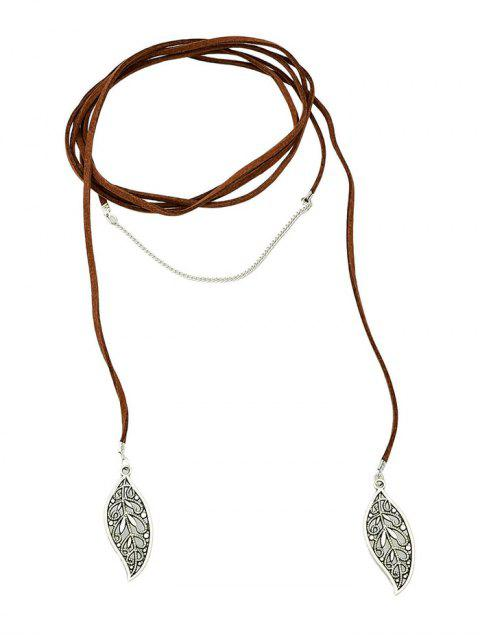 latest Layered Leaf Necklace -   Mobile