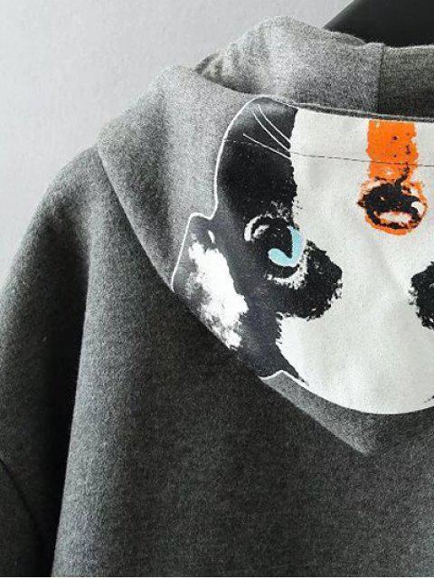 outfits Casual Cartoon Print Hoodie - BLACK XL Mobile
